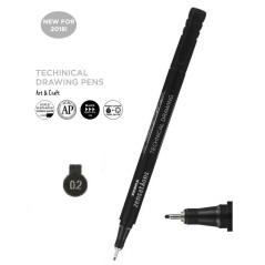Flomaster za tehničko crtanje Zebra 0,2mm 30092 4901681300921