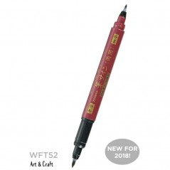 Brush Pen Zebra WFT52 Double end Red/Black (telo crveno/mastilo crno)...