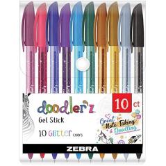Flomaster Zebra Doodler`z Gliter gel 10 boja/set